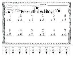 Addition Worksheet Kindergarten Pictures Worksheets With Adding Drop ...