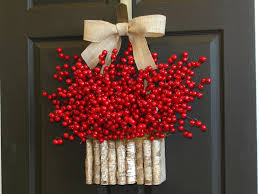 christmas front door decorationsIdeas Stunning Christmas Wreath Front Door For December 25th