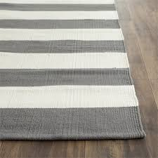 safavieh montauk 12 x 15 hand woven cotton rug in gray and ivory