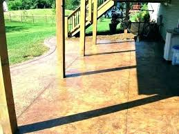 exterior concrete stain staining outdoor patio stained tea water sealer acid colors