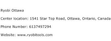 ryobi customer service. ryobi ottawa service center phone number customer