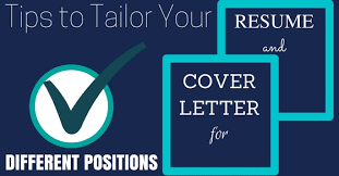 different cover letters tips to tailor your cover letter resume for different