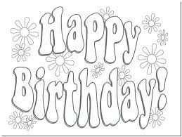 Birthday Coloring Cards Free Printable Free Happy Birthday Coloring
