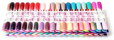 Dnd Gel Color Chart Dnd Soak Off Gel Color Charts 288 Colored Tips