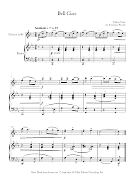 Bella Ciao Sheet music for Clarinet - 8notes.com