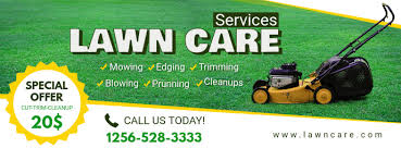 Lawn Mowing Ads Lawn Mowing Service Facebook Header Template Postermywall