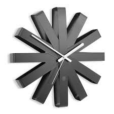 <b>Часы настенные</b> '<b>Ribbon</b>' <b>Черный</b> купить в интернет-магазине ...