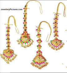 Gold Nethichutti Designs Gold Papita Billa Designs Jewellery Designs