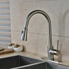 newly kitchen sink mixer faucet with hot cold water taps brushed nickel hole cover plate deck home depot