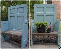 diy door garden chair repurpose old door into garden bench chair instruction