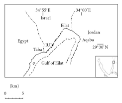 study site map map showing study site along the coast of eilat the northern