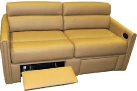 RV Sofa Sleeper, Villa Red Hideabed with Footrests