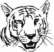 Small Picture coloring animal heads Tiger Head Coloring Page with 600573