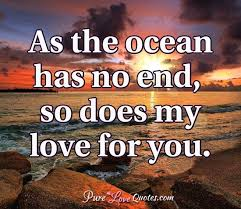 My Love For You Quotes Custom As The Ocean Has No End So Does My Love For You PureLoveQuotes