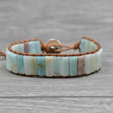 bobo style ite leather wrap bracelet semi precious stone beaded knited bracelet vintage adjustable size bijoux custom charm bracelets charms for
