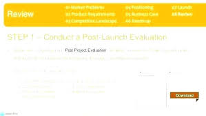 Post Project Evaluation Template Launch Review Product