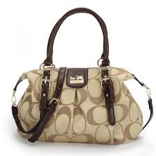 Coach Madison Kelsey In Signature Medium Khaki Satchels ATL