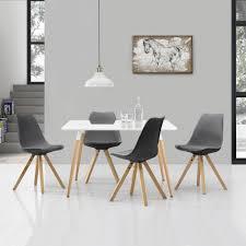 Encasa Esstisch Mit 4 Stühlen Grau Essgruppe Tisch Stühle
