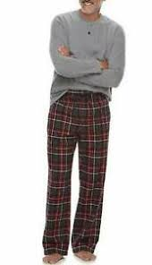 Details About New Mens Croft Barrow 2 Pc Gray Henley Top Pants Flannel Winter Pajamas Xl