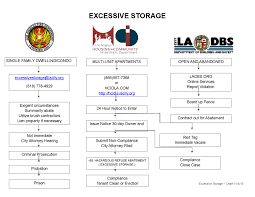 Ladbs Organizational Chart Excessive Storage Flowchart By Los Angeles Fire Department