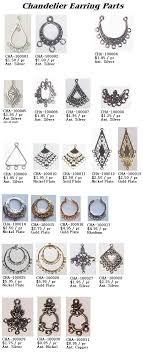 sterling silver fancy chandelier earring parts with 3 view larger