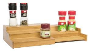Tier Spice Rack Bamboo Expandable 3 Tier Spice Rack And Cabinet Organizer By