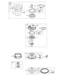 Briggs and stratton 289707 0154 01 parts diagram for flywheel