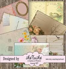 Garden Design Journal Amazing Garden Of Flowers JUNK JOURNAL Kit Ephemera Pages Mini Album Etsy