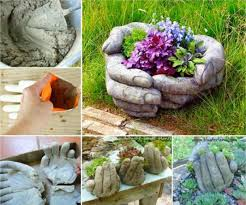 You will never look at a Rubber Glove the same way again. You won't be able  to wait to make these Cement Hand Planters