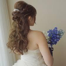 上品で可愛いハーフアップのブライダルヘアカタログ Marryマリー