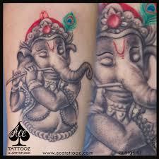 Lord Ganesh Tattoo On Hand Ace Tattooz Art Studio Mumbai India