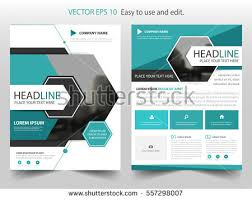 blue abstract hexagon annual report brochure design template vector business flyers infographic magazine poster
