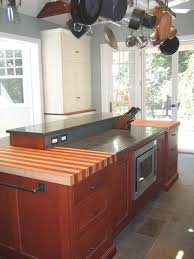 custom maple with african mahogany striped wood countertop in philadelphia