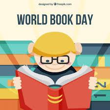 world book day boy reading book ilration