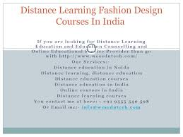 Distance Education In Fashion Designing Distance Learning Fashion Design Courses In India By