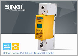 breaker box surge protector. Simple Surge Yellow GNS1 1P Surge Protector Device FOR Building Power Distribution Box  10KA  20KA With Breaker Box E
