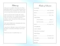 Memorial Service Programme Template Hannahjeanne Me
