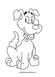 Kleurplaat Kleurplaat Hond Huisdier Dieren