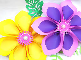 Extra Large Flower Paper Punch How To Make Giant Hawaiian Paper Flowers Abbi Kirsten