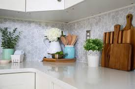 How To Install Backsplash Tile In Kitchen Custom How To Install A Marble Subway Tile Backsplash Just A Girl And Her