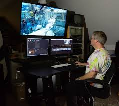 jonathan at the editing suite nothing beats editing in 4k with surround 2016