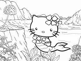 Hello kitty among flowers and hearts. Hello Kitty Coloring Pages Cartoons Hello Kitty Mermaid 5 Printable 2020 3300 Coloring4free Coloring4free Com