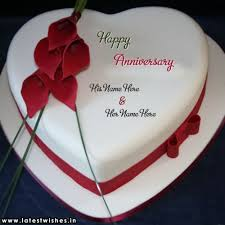 Flower Design Anniversary Wishes Cake Name Pictures
