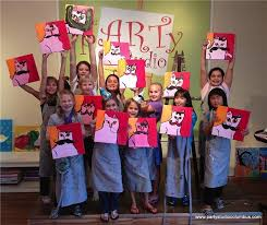 painting parties for kids party studio columbus art painting parties kids s wine image