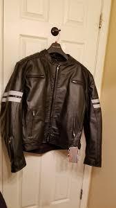 leather viking motorcyle jacket