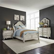 698-BR Parisian Marketplace 4 Piece Bedroom Set in Antique White