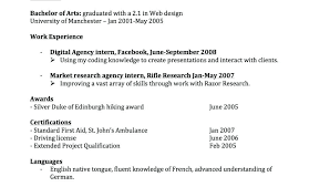 Resume Formates Extraordinary Chronological Resume Template Inspirational Example Cosy Of Sample