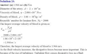 equated the work done on the fluid in the to its change in the potential and kinetic energy a what is the largest average velocity of blood flow