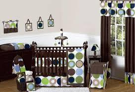 modern polka dot blue brown green baby crib bedding set and sets bedroom interior rattan doll