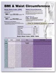 Bmi Alcohol Chart Bmi And Waist Circumference Laminated Wall Chart Lfa 92226